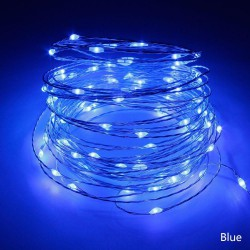 Светодиодная гирлянда Нить на батарейках 5 м синий