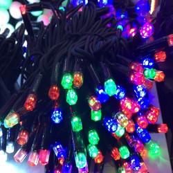 Гирлянда светодиодная уличная «Нить» 100 Led цветная 10 м