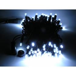 Гирлянда светодиодная уличная чёрный провод 10м LED (белая)