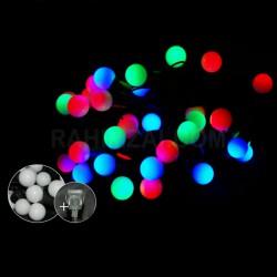 Гирлянда шарики 28 л средние светодиодная мульти 6 м № 524