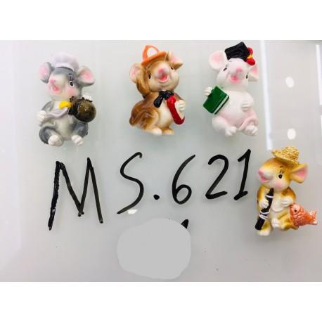 Магнит керамический мышка 2020 № 621