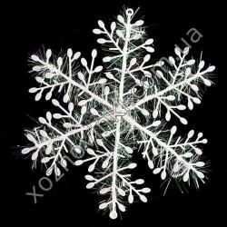 Украшение «Снежинка» пластиковая белая 2 шт. 23 см