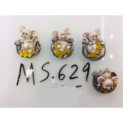 Магнит керамический мышка 2020 № 629