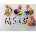Магнит керамический мышка 2020 № 631-5.5 см