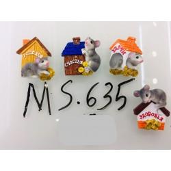 Магнит керамический мышка 2020 № 635