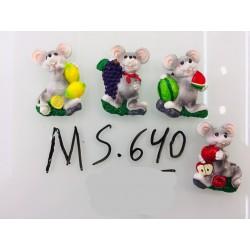 Магнит керамический мышка 2020 № 640