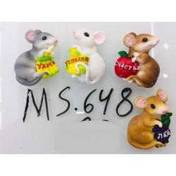 Магнит керамический мышка 2020 № 648