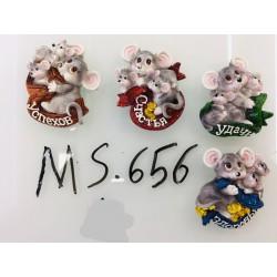 Магнит керамический мышка 2020 № 656