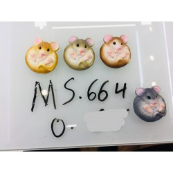 Магнит керамический мышка 2020 № 664