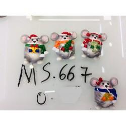 Магнит керамический мышка 2020 № 667