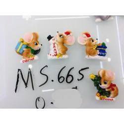Магнит керамический мышка 2020 № 665