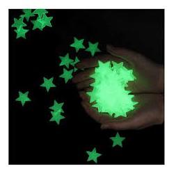 Светящиеся фосфорные звезды 20шт в уп