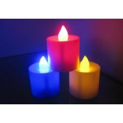 Свеча светодиодная led мигающая на батарейках(цветные) № 724 Большая