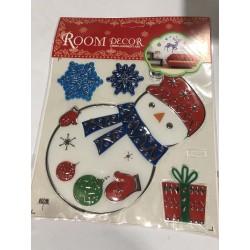 Новогодние декоративные наклейки «Room Decor» на стекло (20 × 20 см)