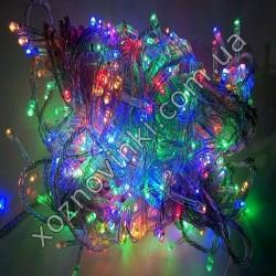 Гирлянда нить силиконовый провод 300 ламп LED мульти 220 v