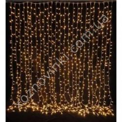 Гирлянда штора водопад 3*3 м 320 LED золото 10 шнуров