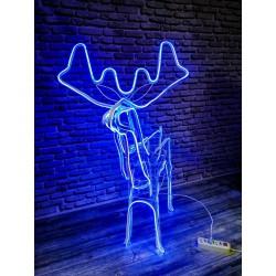 """Информация неактуальна? Фигура """"Новогодний Олень"""" светящийся, из светодиодной неоновой ленты 120см"""