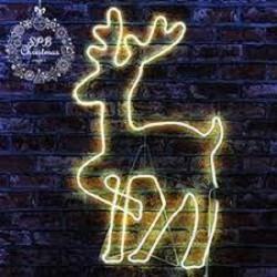 """Фигура """"Новогодний Олень"""" светящийся, из светодиодной неоновой ленты 120 см"""