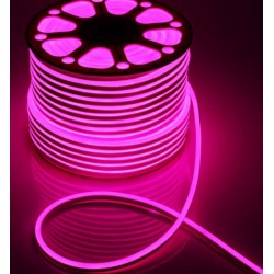 Светодиодный гибкий неон на 220v AVT розовый(Р) 120Led 2835 5mm IP65 № 781