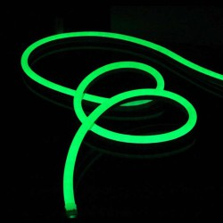 Светодиодный гибкий неон 50 м 220v AVT Зеленый(Р) 120Led 2835 5mm IP65 № 781