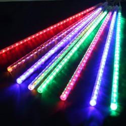 Гирлянда LED Тающие сосульки, двух-я, сосульки 30см, 8шт Мульти