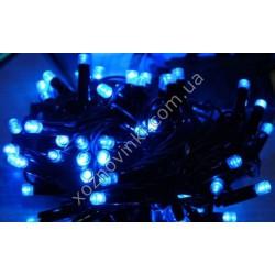№87-88 Гирлянда уличная чёрная LED (синяя)