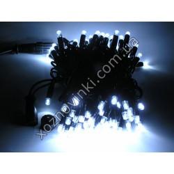 Гирлянда уличная чёрная LED (белая)