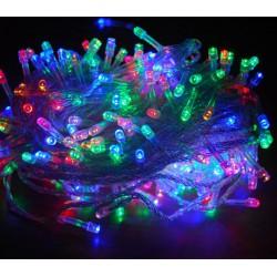 Гирлянда нить силиконовый провод 300 ламп LED Мульти