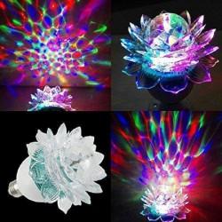 "Диско-лампа ""Цветок"" LED светодиодная вращающаяся"