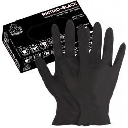 Перчатки нитриловые чёрные 100 шт