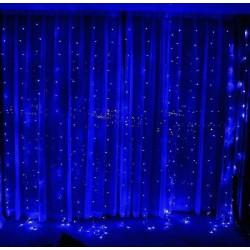 Гирлянда штора водопад 3*3 м 320 LED синий 10 шнуров