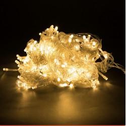 Гирлянда нить силиконовый провод 200 ламп LED Теплый