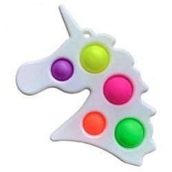 Игрушка Симпл Димпл антистресс 12,5*19,5см Simple Dimple 5пупырок Единорог