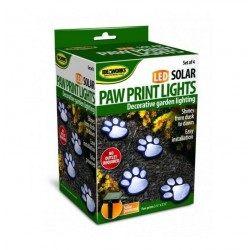 Светящиеся следы Paw Print Light на солнечной батарее / ART-0476
