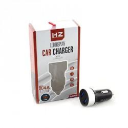 Зарядка Адаптер CAR USB HC6 (Вольтметр-2.4) HZ
