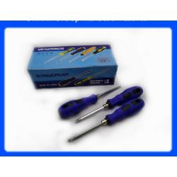 Отвертка с резиновой ручкой 20см / ОТ73