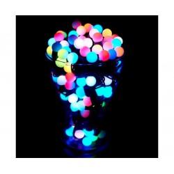 №522 Гирлянда шарики большие (5.5 см) светодиодная мульти 6 м