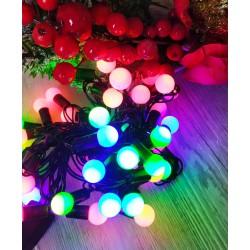 №524 Гирлянда шарики большие (2.5 см) светодиодная мульти 6 м