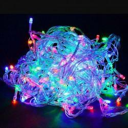 Гирлянда нить силиконовый провод 500 ламп LED мульти 220 v