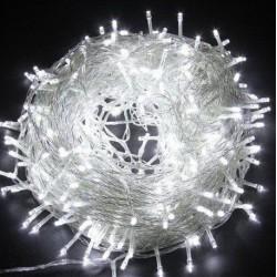 №19 Гирлянда нить силиконовый провод 400 ламп LED белый 220 v