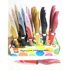 Нож металлокерамика мрамор 25 см