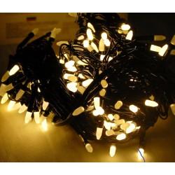 Гирлянда 200 LED (РИС) на черном проводе 16 м теплый цвет № 566