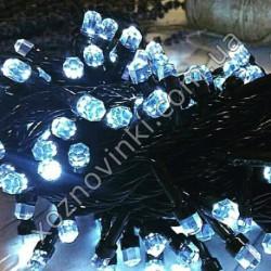 Гирлянда Мини Рубин чёрный шнур 100 LED белый U-12