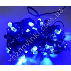 Гирлянда Мини рубин чёрный шнур 240 LED синий U-18