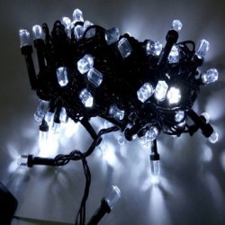Гирлянда Мини Рубин чёрный шнур 400 LED белый U-20
