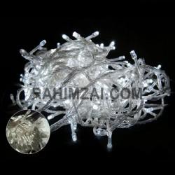 Гирлянда нить силиконовый провод 100 ламп LED Белый