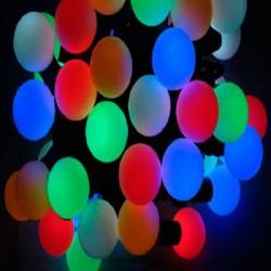 Гирлянда шарики большие( 5.5 см ) светодиодная мульти 6 м № 522